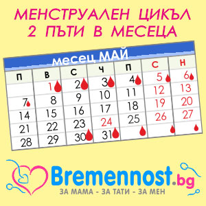 менструация два пъти в месеца
