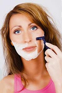 окосмяване по лицето при жените