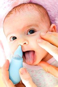 запушен нос при бебе